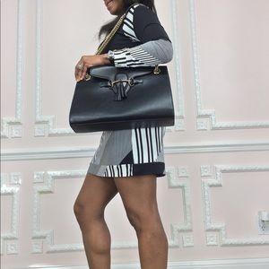GUCCI Purse Emily Chain Strap Leather Flap Bag